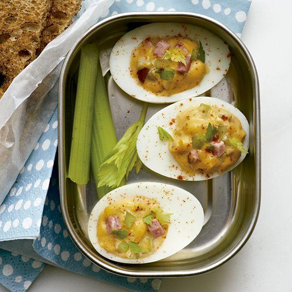 Ovos Recheados com Presunto