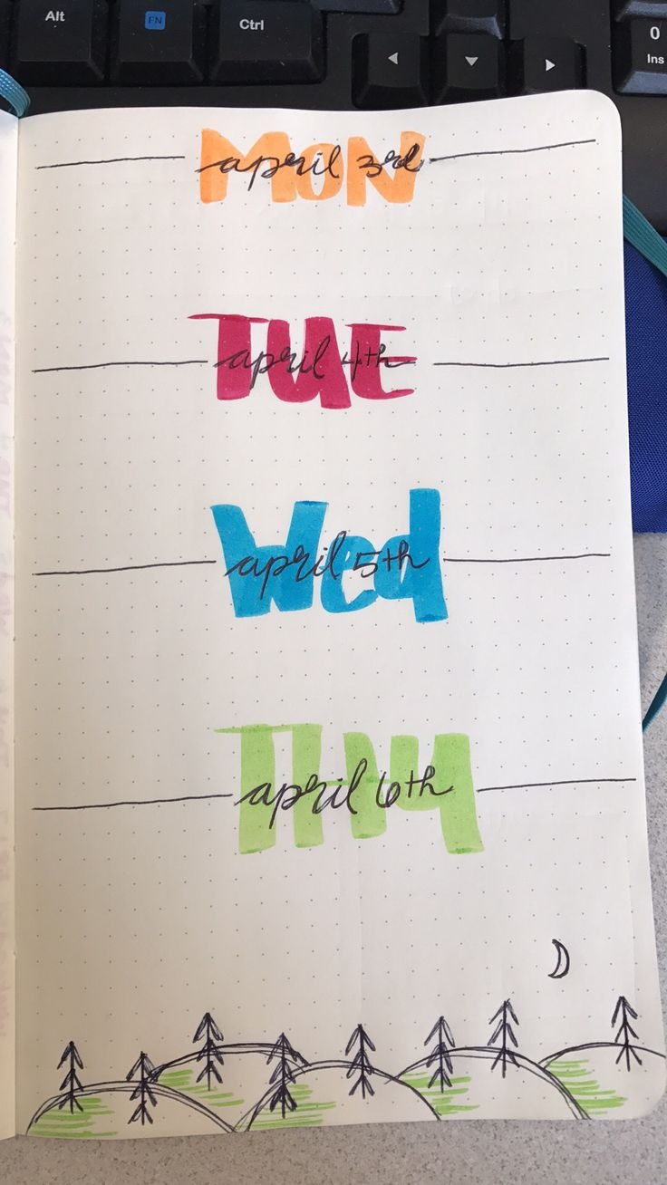 Daily headers ideas... bullet journal.
