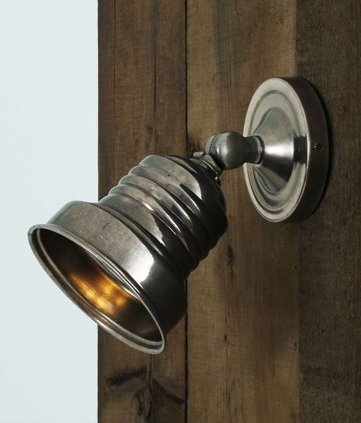 A vintage style adjustable wall mounted spot light in 4 finishes available from lighting styles specialist lighting suppliers