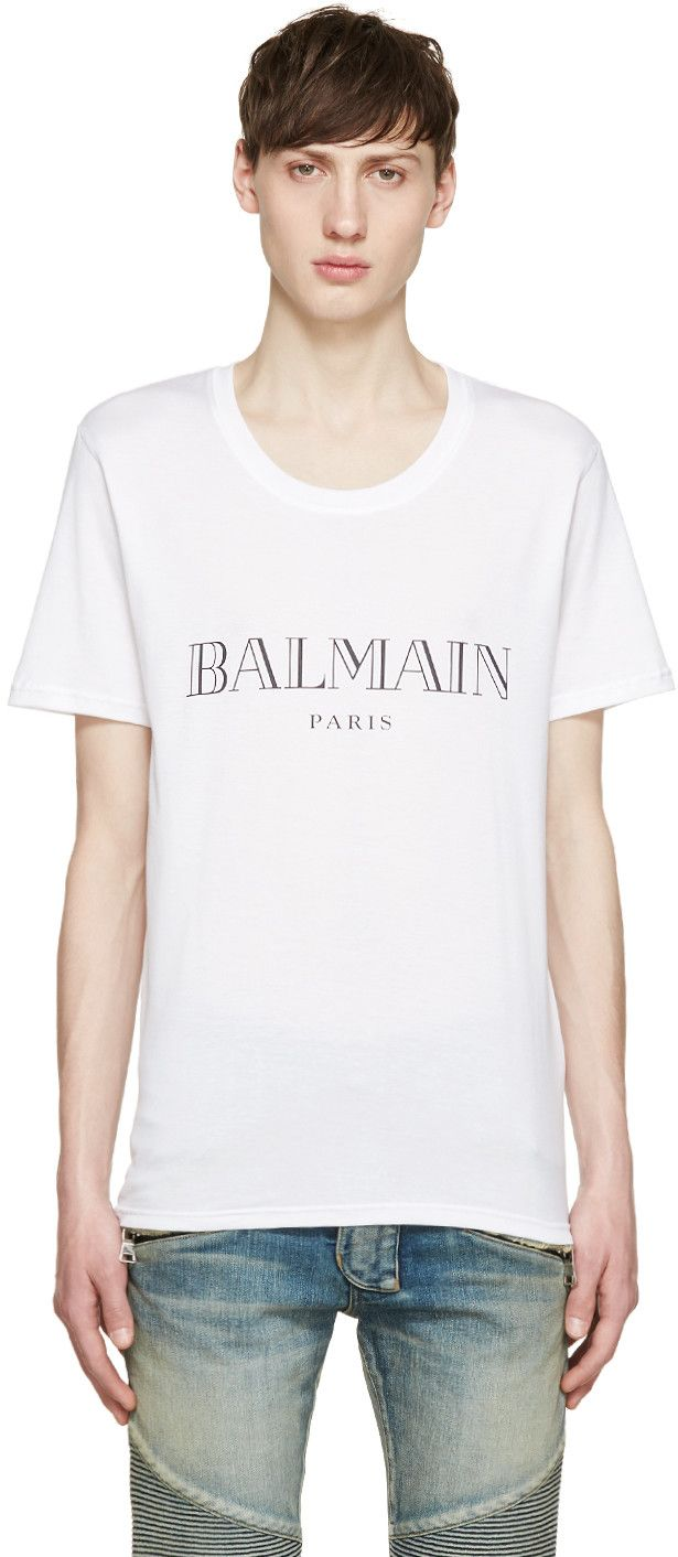 1000 ideas about logo t shirts on pinterest t shirt for Balmain white logo t shirt