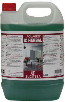 Aquagen IC Herbal, solutie pentru curatat pardoseli din vinilin, marmura, ceramica, placi de argila si articole similare. Recomandat pentru centre medicale, sali se sport, scoli, etc.