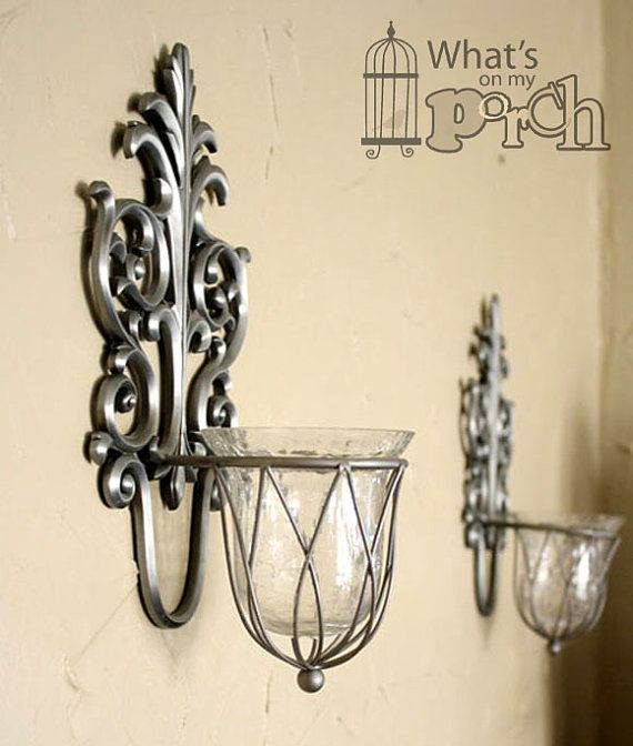 Silver Wall Sconces For Candles : 30 best images about Master bedroom ideas on Pinterest Pewter, Set of and Traditional candles