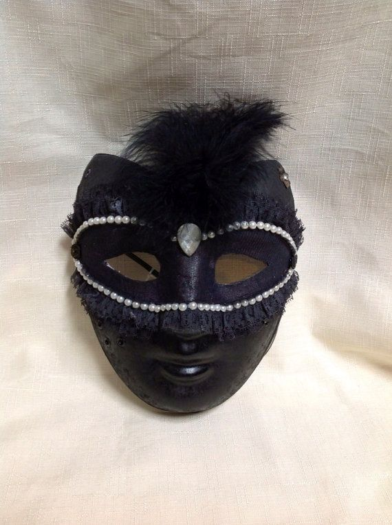 Lace and pearls elegant face mask. on Etsy, $25.00 AUD