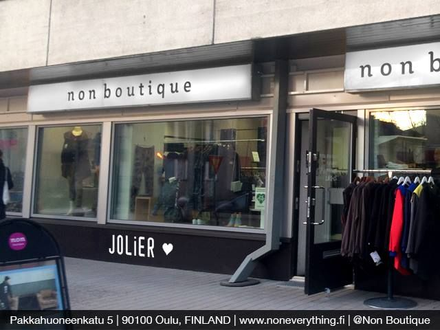 JOLIER Collections are now available at Non Boutique - Oulu, Finland. More info at http://www.noneverything.fi