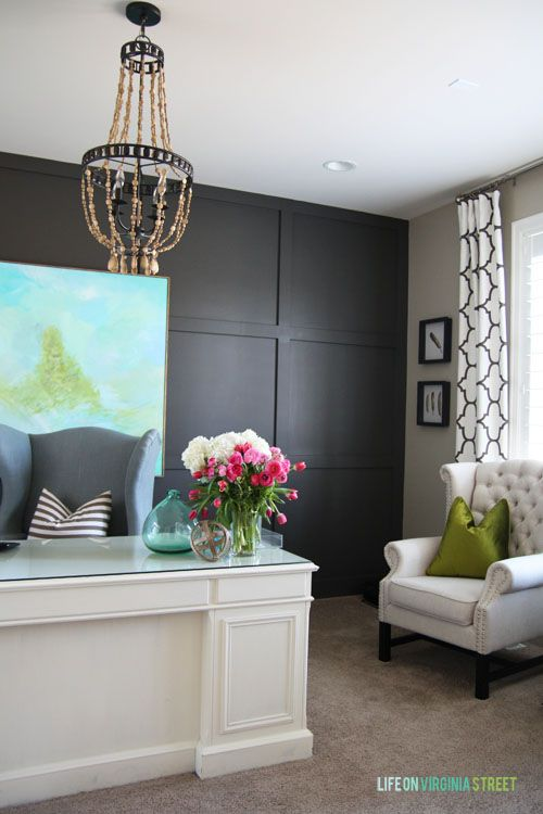 Spring Home Tour - LOVE this DIY office space from Life On Virginia Street