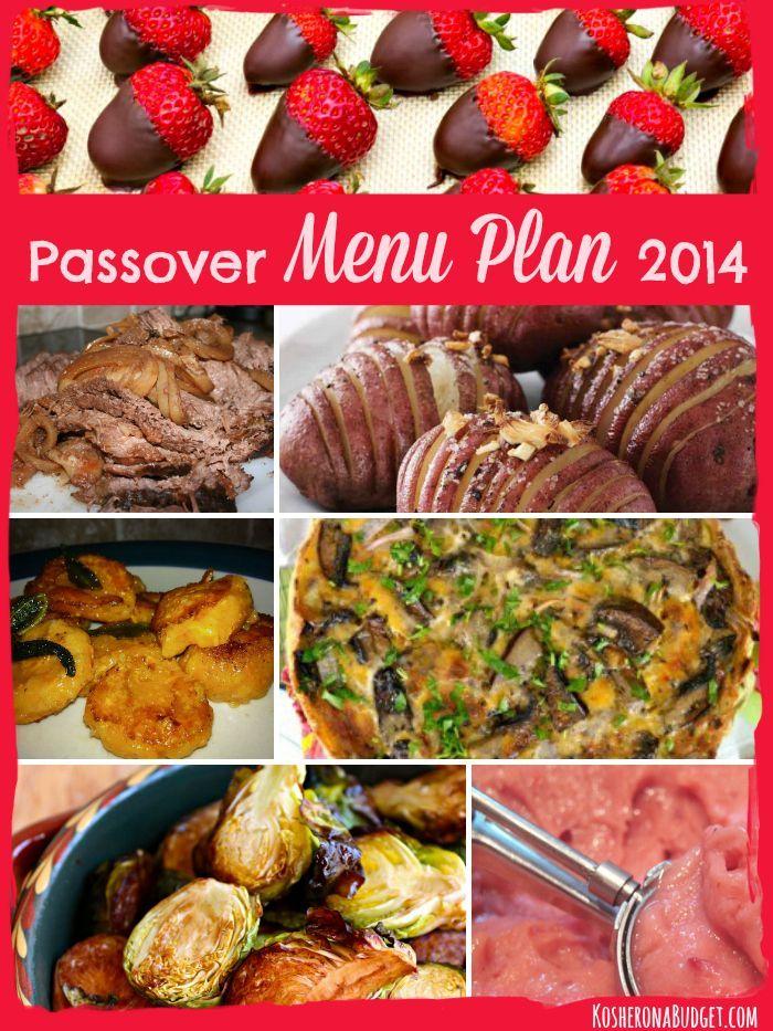 Passover Menu Plan