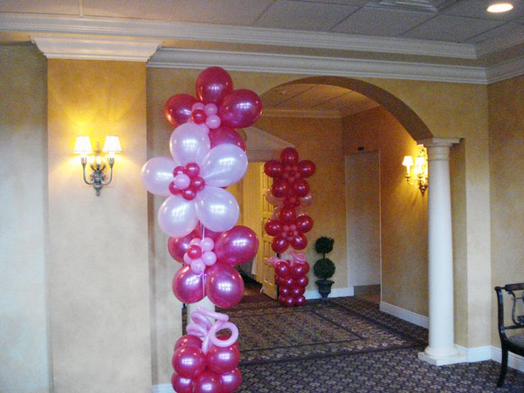 11 best images about barbie theme party on pinterest old for Balloon decoration for baby shower