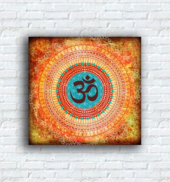 Ohm - Canvas Print - Abstract Art Buddha Yoga Mediation Contemporary Print Om Ohm on Etsy, $45.00