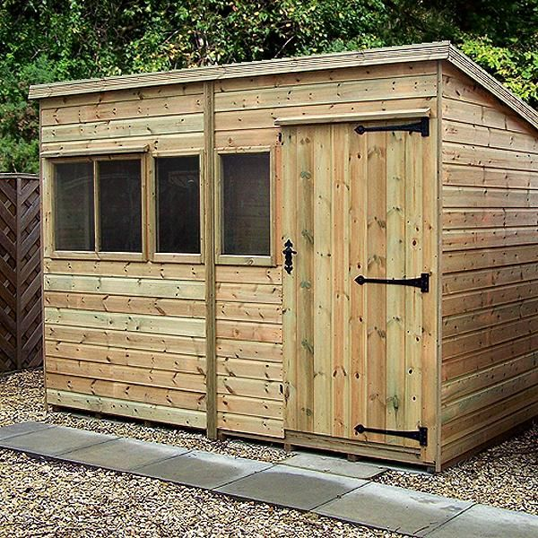 Malvern heavy duty pent shed barn shed shiplap - Exterior tongue and groove cladding ...
