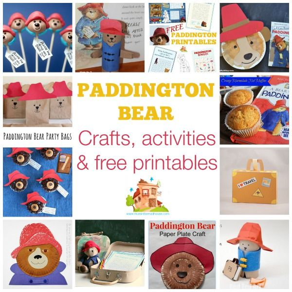 Paddington Bear crafts, activities & free printables