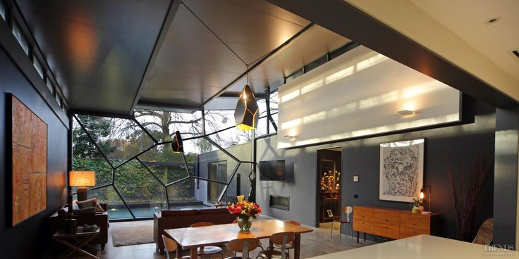 Architect's own home has custom curtain wall and strong connection to nature