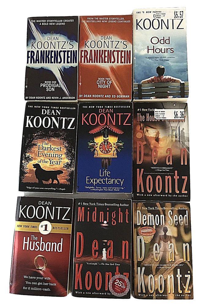 Dean Koontz Paperback Lot of 9 Including Frankenstein Book 1 & 2 and Odd Hours #deankoontz #book #books #ebay TigerTownTreasures.com