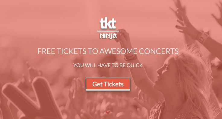 If you love music, you really dig Tkt.ninja! The site and future mobile app will give concert-goers a way to snag free tickets to local concerts every day.