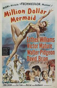 Million Dollar Mermaid (also known as The One Piece Bathing Suit in the UK) is a 1952 Metro-Goldwyn-Mayer biographical musical film of the life of Australian swimming star Annette Kellerman. It was directed by Mervyn LeRoy and produced by Arthur Hornblow Jr. from a screenplay by Everett Freeman. The music score was by Adolph Deutsch, the cinematography by George J. Folsey and the choreography by Busby Berkeley.