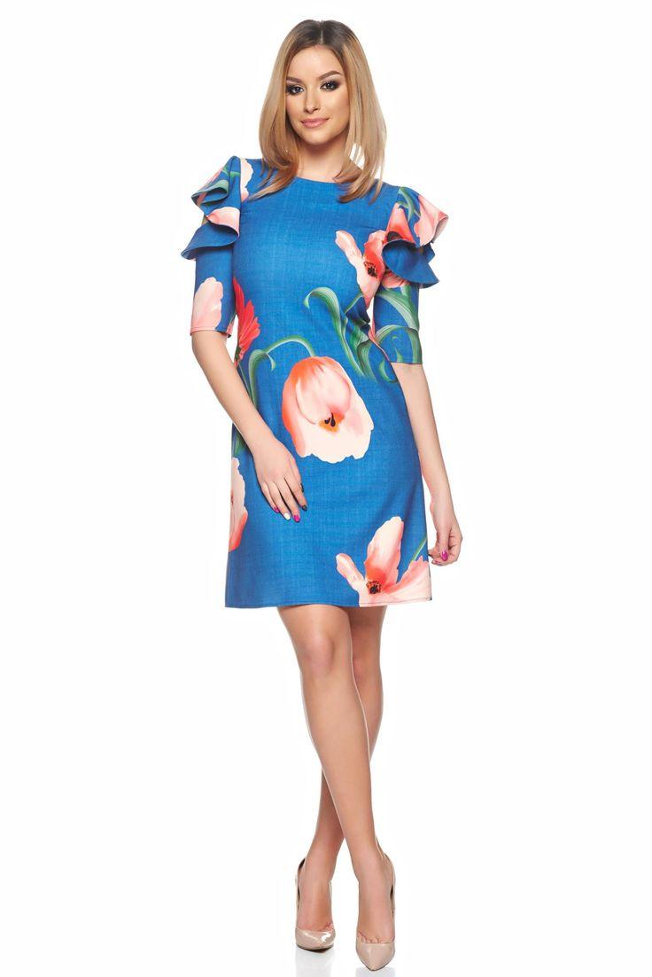 Comanda online, Rochie LaDonna Desire Floral Blue. Articole masurate, calitate garantata!