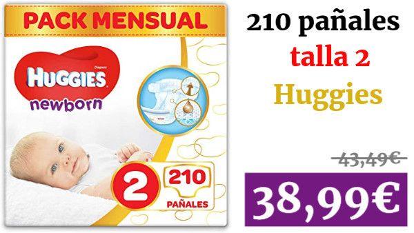 Huggies Newborn Panales Recien Nacido Talla 2 3 6 Kg 210