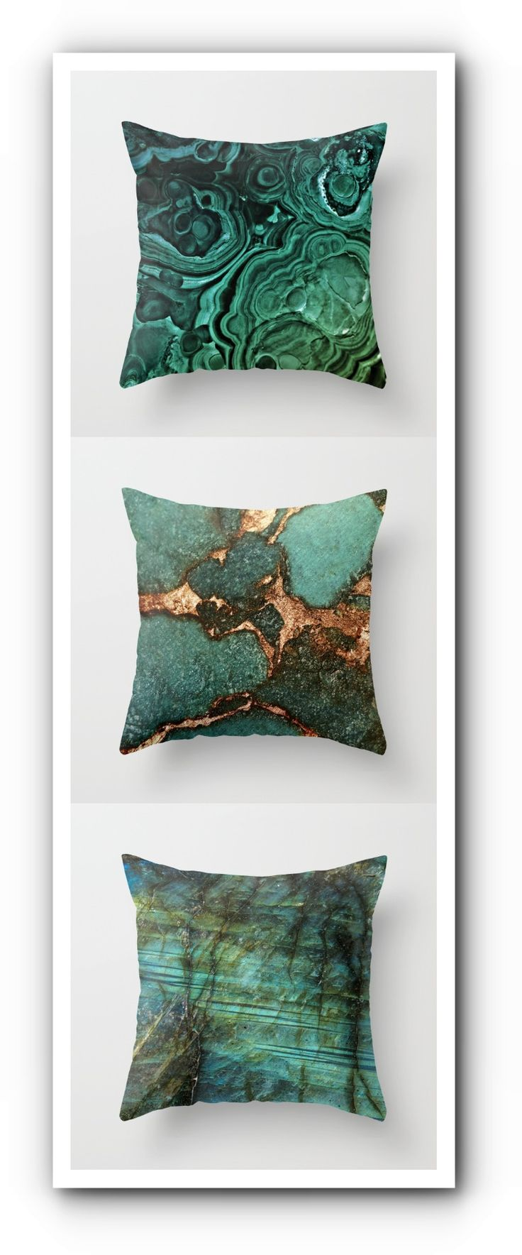 Gemstone Pillows.  Beautiful!