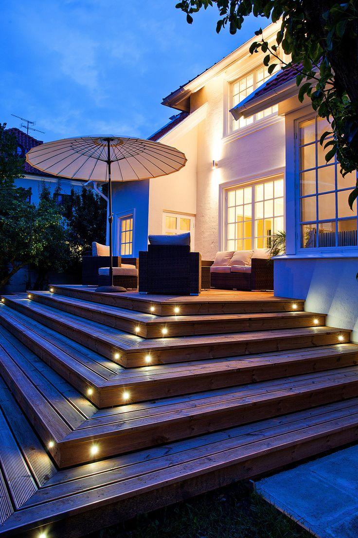 Inredning led belysning altan : 39 best husdrömmar images on Pinterest | Villas, Facades and ...