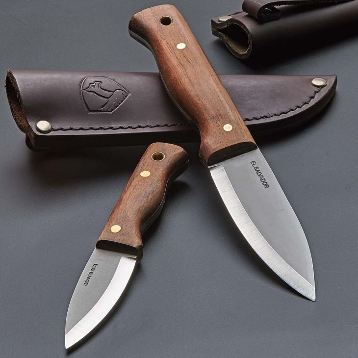 Drop Point Bushcraft Sheath Knives A FIXED BLADE WORKHORSE IN AN EVERY-DAY-CARRY (EDC) SIZE Hand-made welted leather sheath