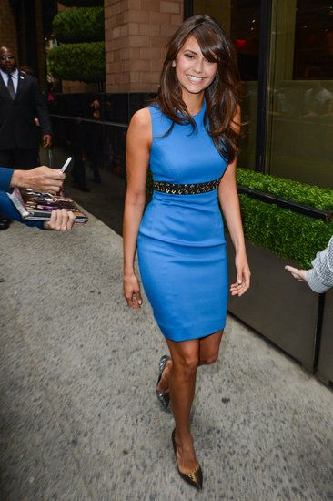 Nina Dobrev is too cute (and chic) in Versace.