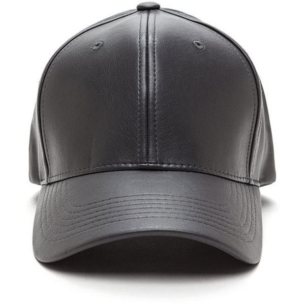 GREY Even Better On Faux Leather Cap ($10) ❤ liked on Polyvore featuring accessories, hats, grey, cocktail hat, holiday hats, gray cap, grey cap and evening hats