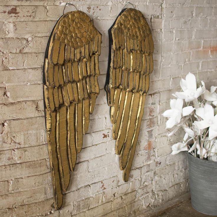 (Set of 2) Painted Wooden Angel Wings