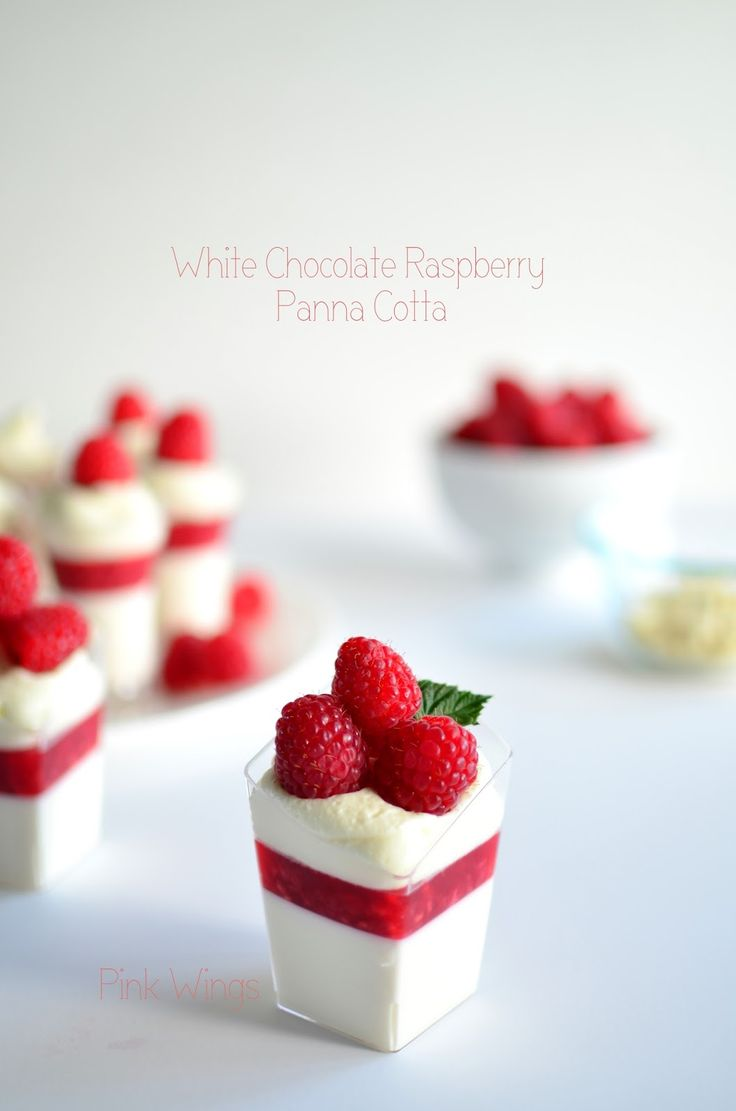 White Chocolate Raspberry Panna Cotta I used frozen raspberries for the jelly