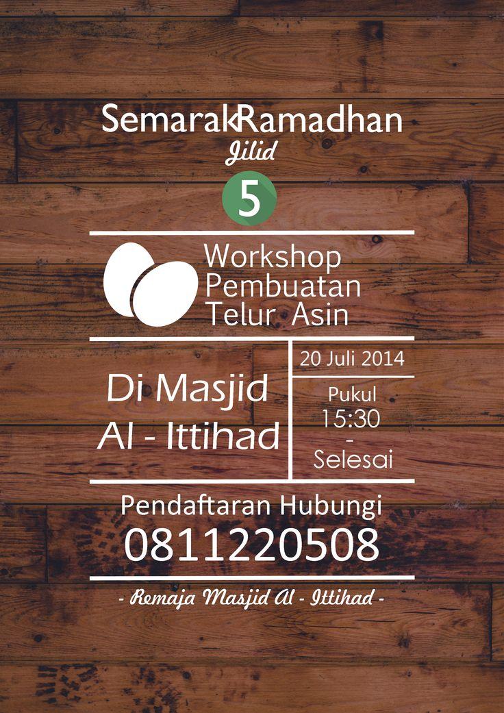 Poster Semarak Ramadhan - Workshop Pembuatan Telur Asin