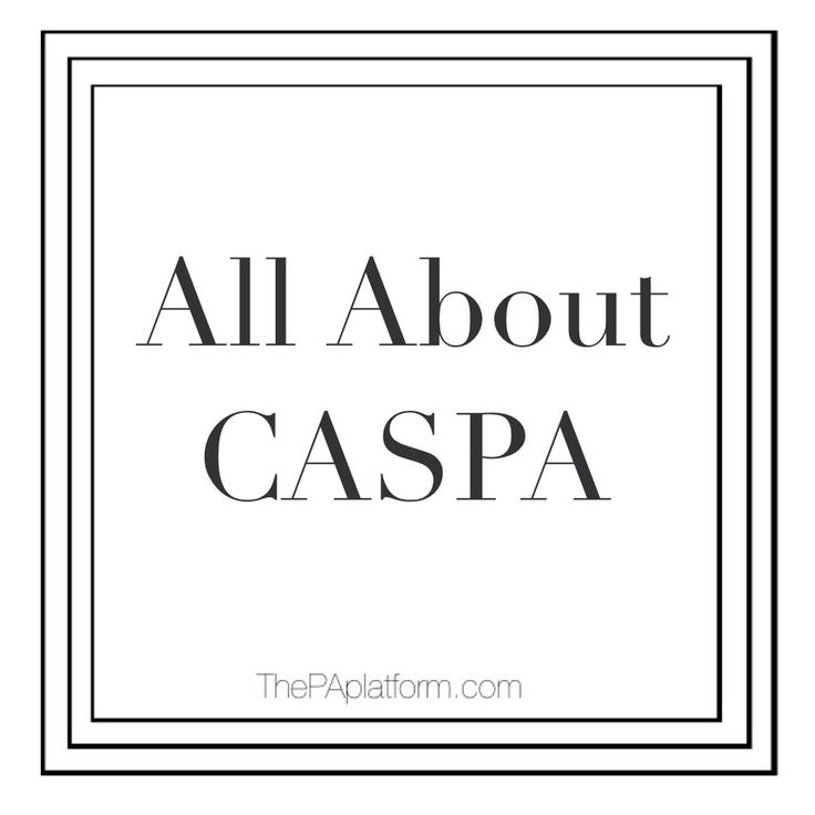 "The word ""CASPA"" gets thrown around a lot when the topic of applying to PA  school comes up, so today we'll look at what it is exactly, and what that  application entails.  CASPA stands for the Central Application Service for Physician Assistants.   So basically, it is an online application service that schools use to have  students complete their applications.  The majority of programs use CASPA,  but here is a list of who is currently participating.  It also shows all of  the deadlines…"
