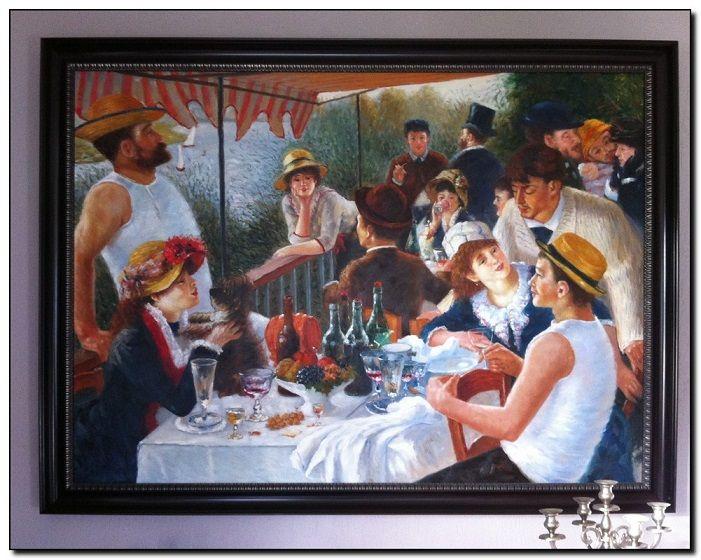 Reproductie schilderij Renoir de roeierslunch, een gezellig schilderij voor in de keuken. http://www.mypainting.nl/page/116-voorbeelden-schilderijen-in-opdracht