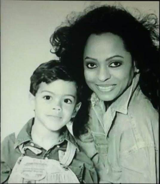 Diana Ross & Evan Ross  Mother-Son Photo