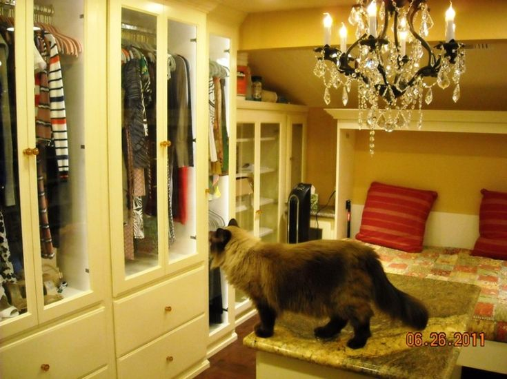 """This woman used the space above her Master bedroom to build a """"loft closet"""" I'm in love with this idea!"""