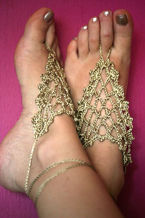 SALE   Barefoot Sandals Nude shoes Foot jewelryWedding by MarryG, $15.00