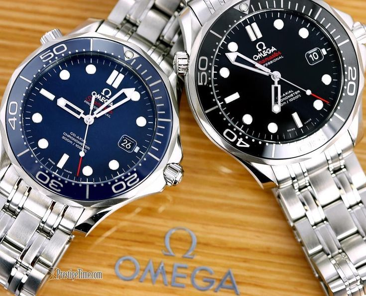 List Price is 4,400.00.  SAVE 38%  Get Special pricing for a limited time: Special Price: $2750 #Omega #Seamaster #Diver 300m, stainless steel case, 41mm diameter, #black or #blue dial with matching #ceramic bezel, luminous hour markers & tipped hands, date at 3. This #wristwatch #Waterresistant to 300m, screw down crown, helium escapement valve. #Omegawatches model number 212.30.41.20.03.001 for the blue version & 212.30.41.20.01.003 in black #Omegaseamaster