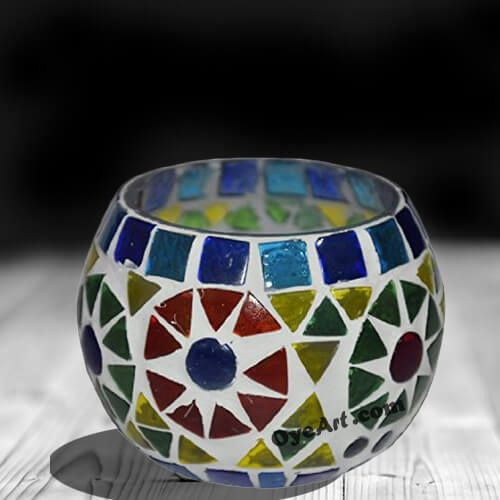 Mosaic Diwali lamps