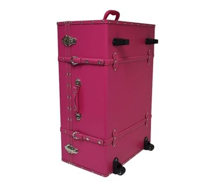 The Sorority College Trunk - Cherry Pink provides an easy way to organize and transport your dorm stuff while adding some style and color to your dorm decorations. College trunks are super handy dorm accessories and make college life better and easier.
