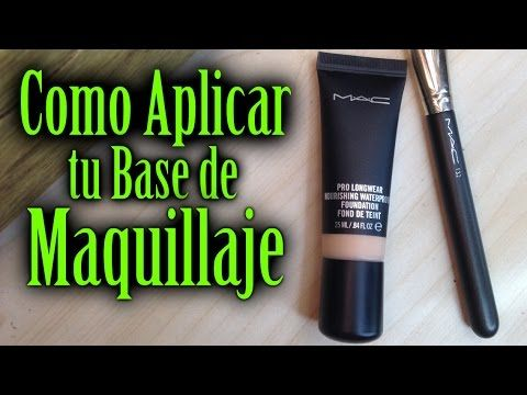 Aplicar tu Base de Maquillaje | MAC Pro Longwear Nourishing Waterproof Foundation - YouTube