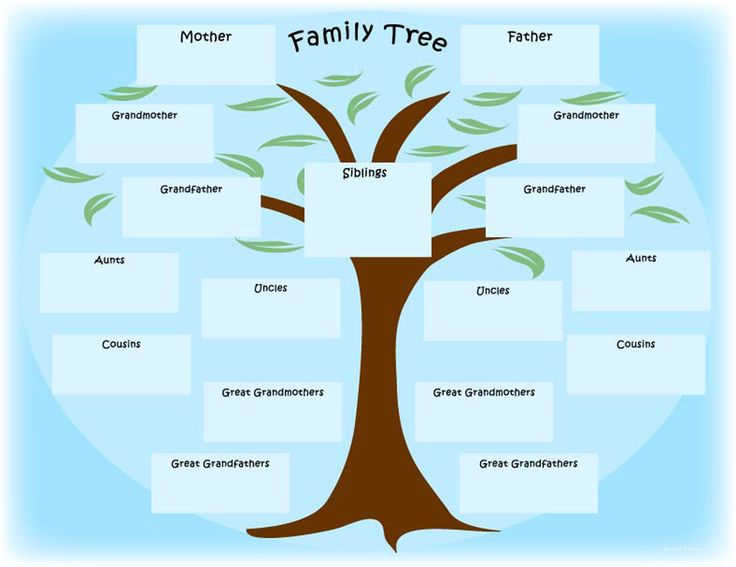 12 family 1368 1054 ancestry pinterest for Plain family tree template