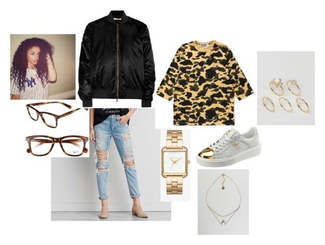 """Untitled #451"" by olivyathompson on Polyvore featuring American Eagle Outfitters, Michael Kors, Puma, Johnny Loves Rosie, Ray-Ban, Givenchy and ASOS"