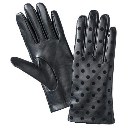 ** Merona® Polka Dot Leather Glove - Black