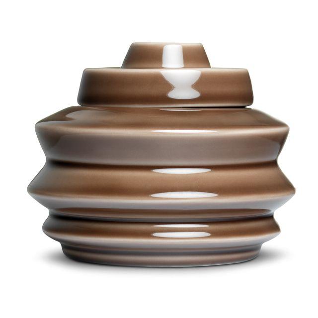 Brown Lidded Jar, medium