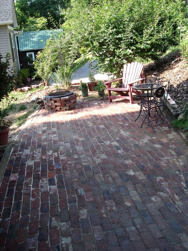 reclaimed brick patio yard garden