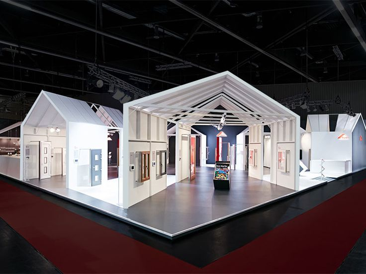 """""""People without humor are just like houses without windows."""" (Ernst Ferstl) #ExhibitionDesign for Frank Roto AG on the Fensterbau Frontale 2014 in Nurnberg. #TradeFairBooth"""