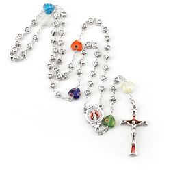 Murano Heart Rosary, petite-sized and cute! Imported from Italy, $14.95.