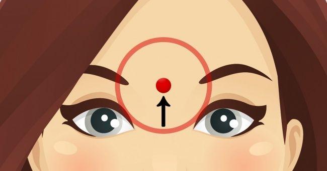 Вот что происходит, когда вы делаете массаж этой точки на лбу