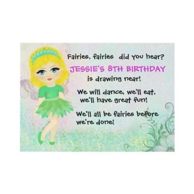 fairy party invitation - Customized Party Invitations