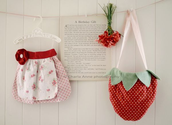 Too cute for words!  I have so many old linens, this is a great way to use them!