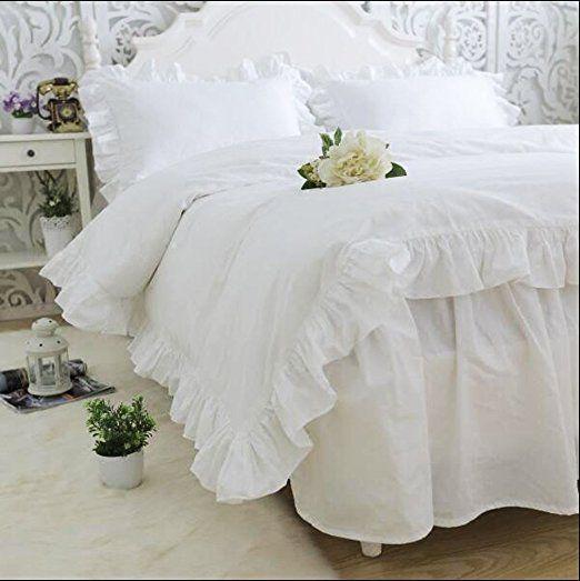 Amazon|綿100% ホワイト掛け布団カバー/ベッドスカート/枕カバー 無地 シングル|寝具カバーセット オンライン通販