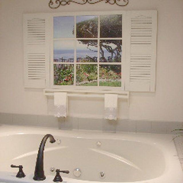Great Fake Window In Bathroom Home Design