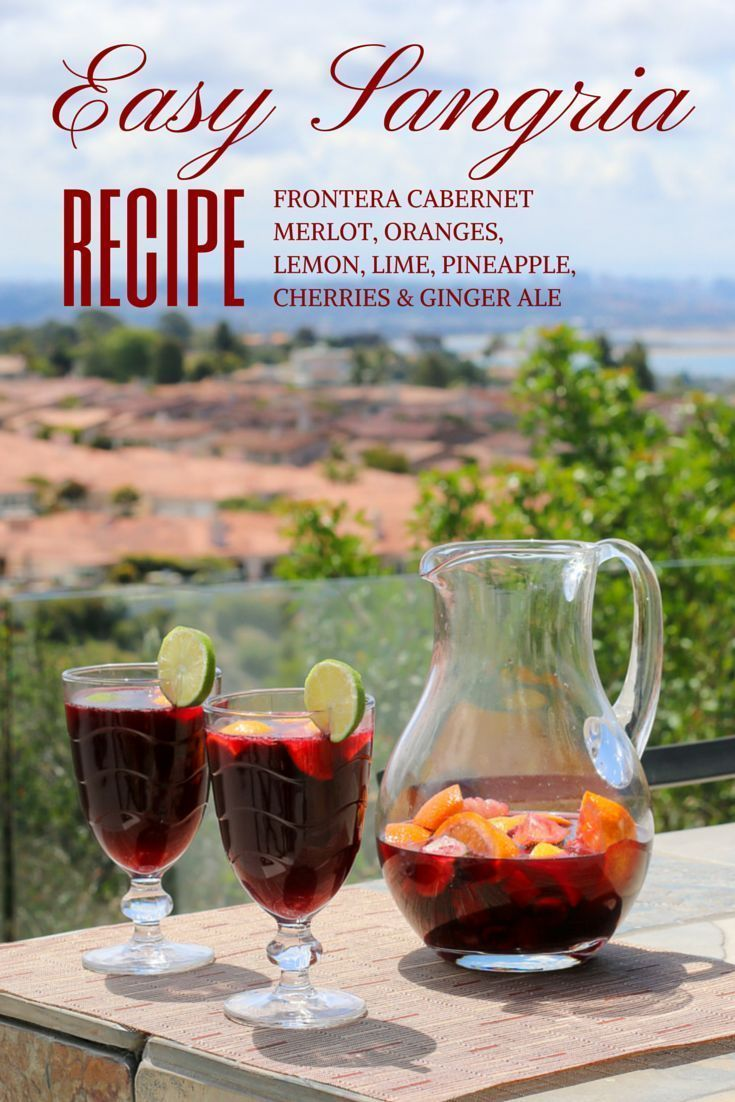 how to make sangria with red wine and ginger ale